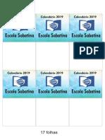 Calendário IASD Muca 2019