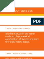 Group Quiz Bee