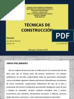 Presentación de Tecnicas de Construccion