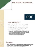 t5 - Hazard Analysis Critical Control Point