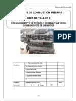 2. Reconocimiento de Pernos y Desmontaje de Componentes Del Motor CUMMIS GRUPO2