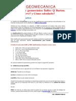 Clasificación Geomecánica Índice Q Barton
