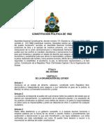 Constitución de la República de Honduras 1982