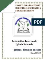 1 Manuel Para Diaconos Funciones y Responsabilidades Requisitos Capacitacion Por Pastor Baudilio Melgar Convertido (1)