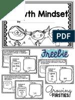 Growth Mindset Interactive Mini Book Freebie