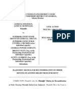 Motion for Reconsideration Denial Of Plaintiff's Rule 60(b) Motion