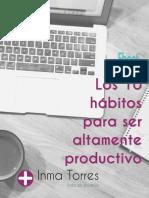 10 Hábitos Para Ser Altamente Productivo