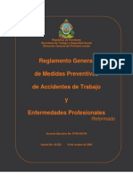 Reglamento General de Medidas Preventivas Accidentes de Trabajo Honduras
