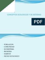 Conceptos Ecológicos y de Sistemas