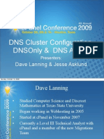 DNS Cluster Configuration