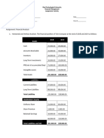 Financial Ratio Horizontal and Vertical Analysis