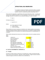 Tabla de Calculo de Diseño