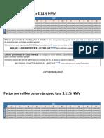 Factores x Millón Vive Tasa 2.11% 01112019