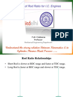 Selection of rod ratio for IC Engines