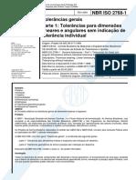 NBR2768-1 - Tolerancias Gerais 1 Parte