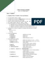 Mat Lab Tutorial Part 1