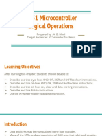 8051 Microcontroller Logical Operations