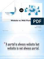 Website vs Portal by Ravisundar