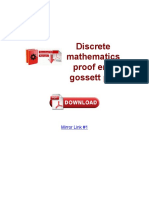 Discrete Mathematics Proof Eric Gossett PDF