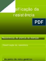 Classificação de resistencia