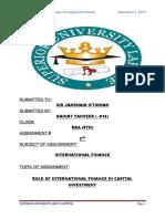 role of international finance in capital market