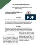Estadistica Del Cobre y La Importancia en El Perú
