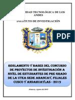 Bases Del Concurso de InvestiGACION