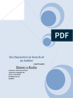 Illusion vs Reality in Six Characters in Search of an Author