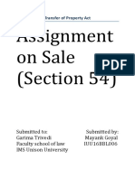 Sale as a Mode of Transfer- Sections 54