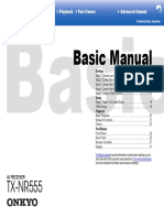 Onkyo TX NR555 Manual