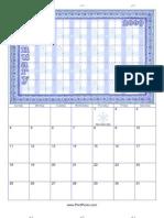 2009 Scrap Booking Calendar