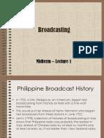 1- Broadcasting History