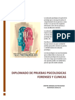 Temario Diplomado Pruebas Psicologicas
