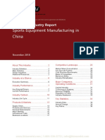 2421 Sports Equipment Manufacturing in China Industry Report