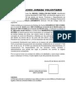 DECLARACION JURADA VOLUNTARIO