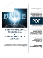 Diplomado Psicologia Criminal y Psicopatologia de La Conducta Ok
