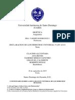Declaraciones de Los Derechos Humanos y Ley42-01