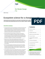 Ecosystem Science for a Changing World Grantham DP4