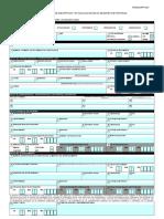 Formulario DRPT-001