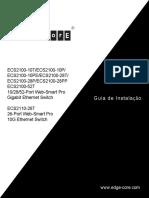 Manual Edge-Corre ECS2100 Series Portugues