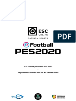Regulamento Torneio ESC Online_eFootball PES 2020