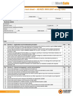 Compliance Inspection Test Sheet