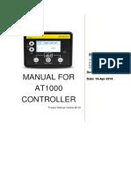 Sed Man At1000 002 Manual for At1000 Controller