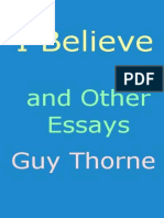 """I Believe"" and other essays"