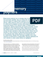 1 Shape Memory Polymers