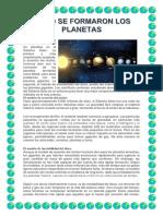 Hay dos teorías acerca de cómo se formaron los planetas en el Sistema Solar.docx