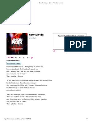 New Divide: Letra | Songs Written | American Musicians