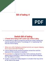 Bill of Lading II