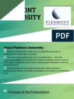 Piedmont Case PPT