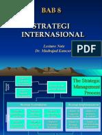Bab 8 Strategi Internasional